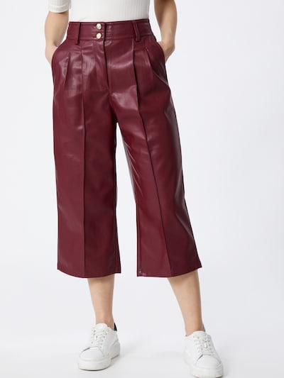 River Island Pantalon à pince en rouge foncé, Vue avec modèle