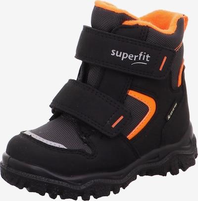 SUPERFIT Sniega apavi 'Husky', krāsa - tumši pelēks / neonoranžs / melns / balts, Preces skats