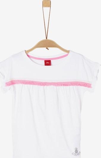 s.Oliver T-Shirt in pink / weiß, Produktansicht