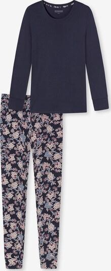 SCHIESSER Schlafanzug 'Feminine Floral' in dunkelblau / rosé, Produktansicht