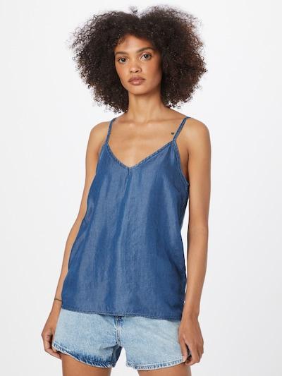 ZABAIONE Blūze 'Cindy', krāsa - zils džinss, Modeļa skats
