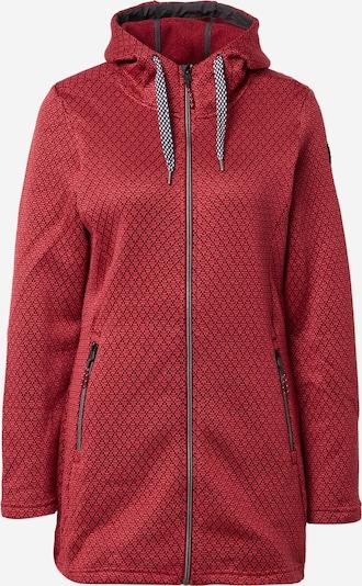 KILLTEC Functionele fleece jas in de kleur Wijnrood / Zwart, Productweergave