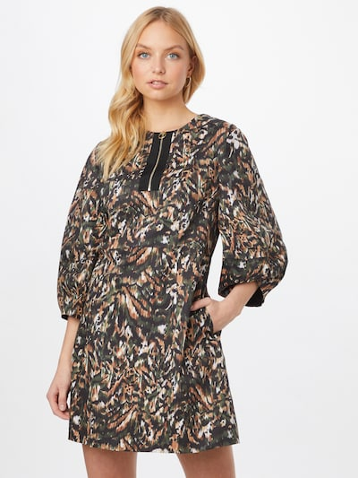 Ted Baker Sukienka 'Holiiy' w kolorze brązowy / ciemnozielony / czarny / białym, Podgląd na modelu(-ce)