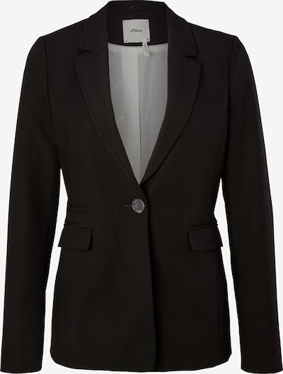s.Oliver BLACK LABEL Blazer in schwarz, Produktansicht