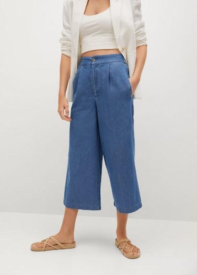 MANGO Pleated Jeans 'Gaia-H' in Blue denim, View model