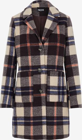 PIECES Between-Seasons Coat 'Carli' in Beige / Dark blue / Pastel pink, Item view