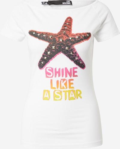 Love Moschino Shirt in de kleur Geel / Sinaasappel / Pink / Wit, Productweergave