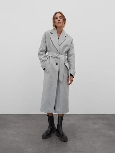 EDITED Přechodný kabát 'Cecilia' - šedý melír, Model/ka