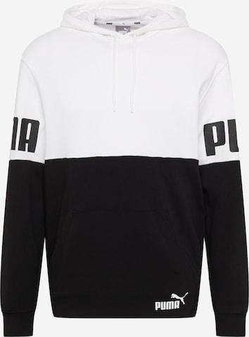 PUMA Αθλητική μπλούζα φούτερ σε λευκό