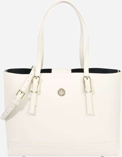 "TOMMY HILFIGER ""Shopper"" tipa soma 'Honey' Zelts / balts, Preces skats"