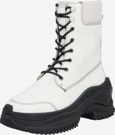 BRONX Boots 'Chainy' en nude / blanc, Vue avec produit