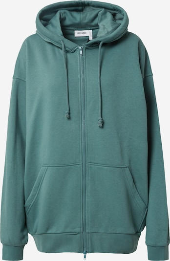 WEEKDAY Zip-Up Hoodie in Emerald, Item view