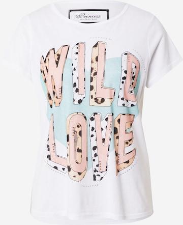 Maglietta 'Wild Love' di PRINCESS GOES HOLLYWOOD in bianco