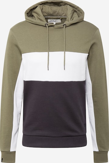 BLEND Sweatshirt in Night blue / Olive / White, Item view