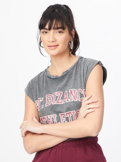 Bizance Paris Shirt 'EDMEE' in rot / schwarz / weiß: Frontalansicht