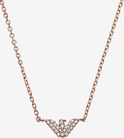 Emporio Armani Kette in rosegold / transparent, Produktansicht