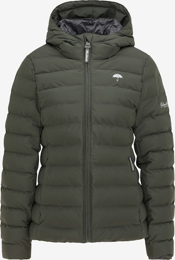 Schmuddelwedda Jacke in grau / dunkelgrün, Produktansicht
