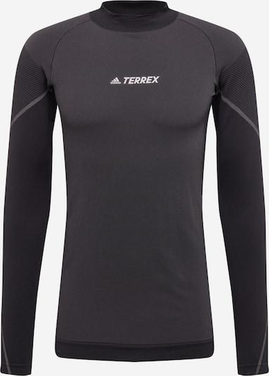Sportiniai marškinėliai iš ADIDAS PERFORMANCE , spalva - tamsiai pilka / juoda / balta, Prekių apžvalga
