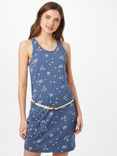 Ragwear Kleid 'Kesy' in dunkelblau / gelb / weiß, Modelansicht