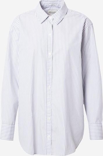 Abercrombie & Fitch Bluzka w kolorze gołąbkowo niebieski / białym, Podgląd produktu