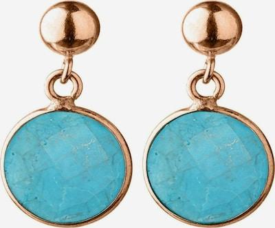 Gemshine Ohrringe in türkis / rosegold, Produktansicht