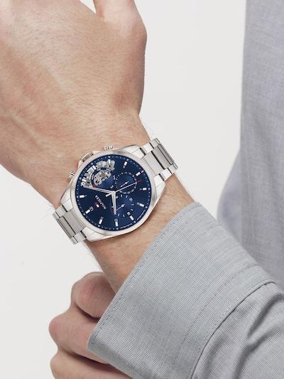 TOMMY HILFIGER Uhr in blau / silber: Frontalansicht