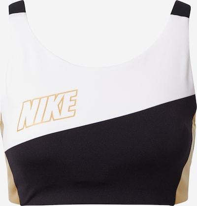 Nike Sportswear BH in de kleur Goud / Zwart / Wit, Productweergave