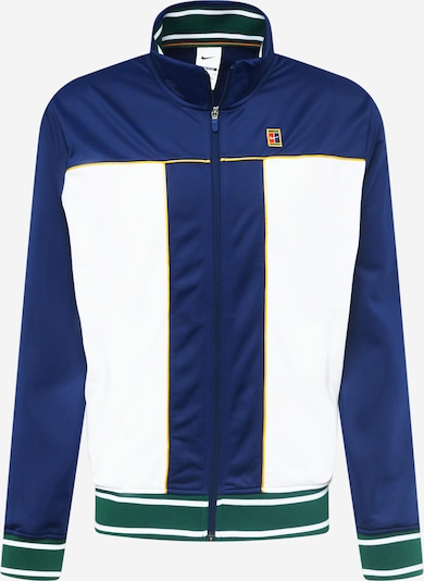 Bluză cu fermoar sport NIKE pe albastru închis / galben / verde / alb, Vizualizare produs