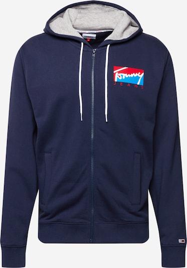 Tommy Jeans Sweatjacke in navy / hellblau / rot / weiß, Produktansicht