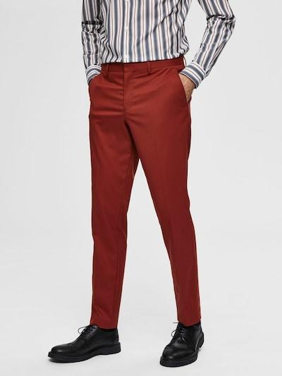 SELECTED HOMME Kalhoty se sklady v pase - rezavě hnědá, Model/ka