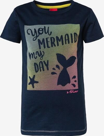 s.Oliver Shirt in nachtblau / mischfarben, Produktansicht