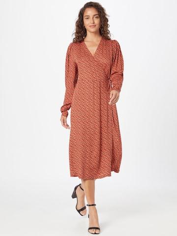 Soft Rebels Shirt Dress 'Leah' in Brown