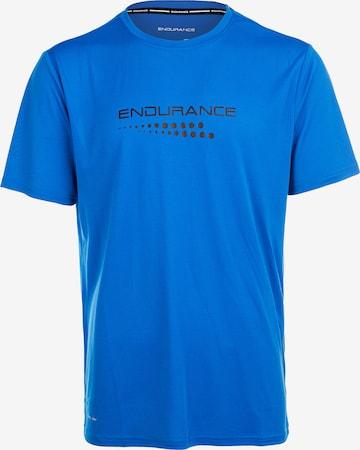 ENDURANCE Funktionsshirt 'CARBONT M S/S Tee' in Blau