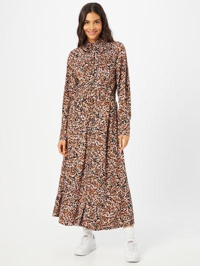 SELECTED FEMME Blousejurk 'RONJA-ORIANA' in de kleur Bruin / Zwart / Wit, Modelweergave