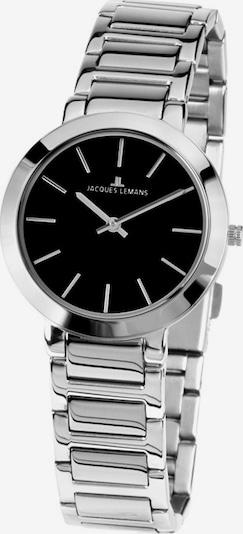 Jacques Lemans Uhr in schwarz / silber, Produktansicht