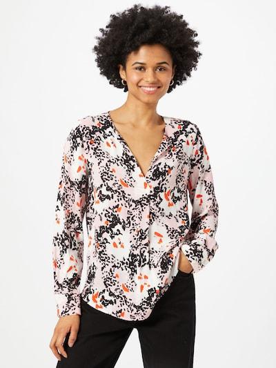 LIEBLINGSSTÜCK Bluse 'Ravina' in orange / rosa / schwarz / weiß, Modelansicht