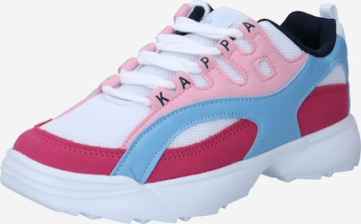 KAPPA Sneaker 'OVERTON' in hellblau / pink / pitaya / weiß, Produktansicht
