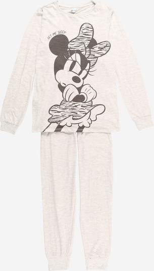 OVS Schlafanzug in hellgrau / schwarz, Produktansicht