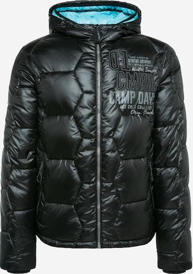 CAMP DAVID Steppjacke mit farbigem Kapuzen-Einsatz in schwarz, Produktansicht
