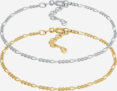 ELLI Armband Figaro in gold / silber, Produktansicht