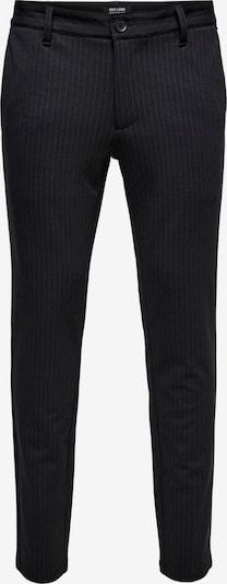 Pantaloni chino Only & Sons di colore nero / bianco, Visualizzazione prodotti