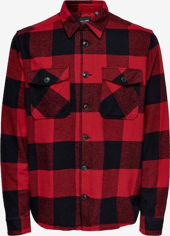 Camicia 'Milo' di Only & Sons in rosso