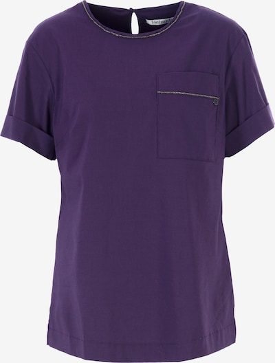 HELMIDGE Kurzarmbluse in lila, Produktansicht