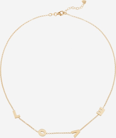 ELLI Łańcuszek 'Love-Schriftzug' w kolorze złotym, Podgląd produktu