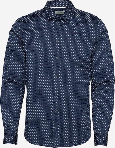 BLEND Košile - tmavě modrá / lososová / bílá, Produkt
