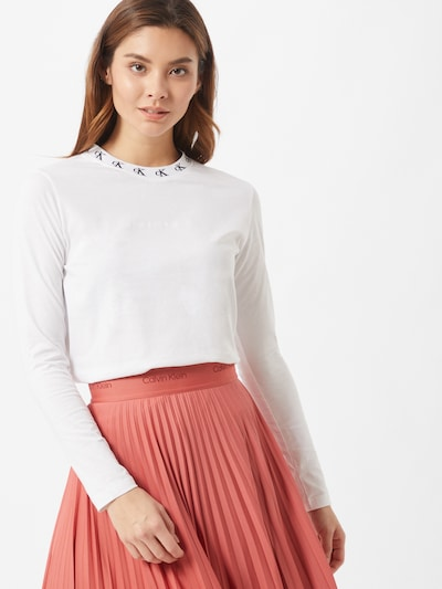 Maglietta Calvin Klein Jeans di colore bianco: Vista frontale