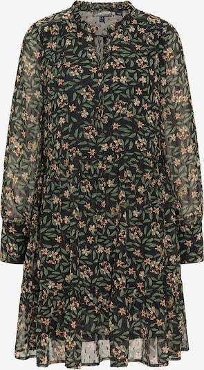 DreiMaster Vintage Vestido camisero en piel / ecru / verde claro / negro, Vista del producto