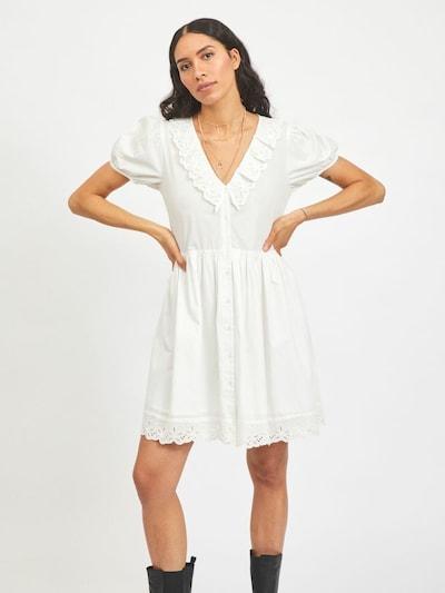 VILA Robe-chemise en blanc, Vue avec modèle