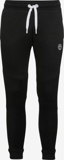 BIDI BADU Sweathose Basil Basic Cuffed mit kontrastfarbenem Bindeband in schwarz, Produktansicht