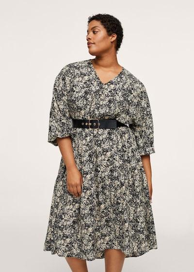 Rochie 'cintu' MANGO pe negru / alb, Vizualizare model
